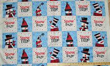 "Snow Daze Snowmen Quilting Treasures Christmas Fabric Blocks  23"" Panel"
