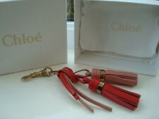 Gorgeous Authentic Chloe Tassels Red & Pink  Keyring / Bag Charm BNIB
