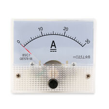 DC 30A Analog Ammeter Panel AMP Current Meter 0-30A DC Doesn't Need Shunt BY