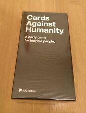 Carte contro l'umanità Uk Edition Gioco di Carte da Tavolo Party Dark humour NUOVO SIGILLATO