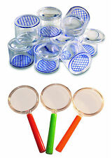 Bug Pots,Magnifying Pot pack of 10 + 10 Childs Plastic Magnifying Glassess