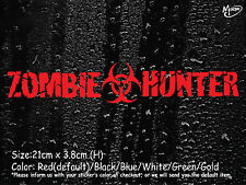 ZOMBIE HUNTER Reflective Funny Car Stickers JMD Boat Decal Best Gift.