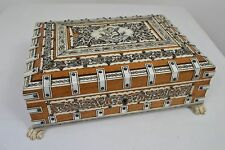 GEORGIAN 1800s VIZAGAPATAM SANDALWOOD CIGAR JEWELLERY BOX CIGARETTE ANGLO-INDIAN