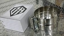 """OFFROAD ARSENAL 5"""" DIAMETER STAINLESS STEEL EXHAUST BAND CLAMP LAP STYLE STACKS"""