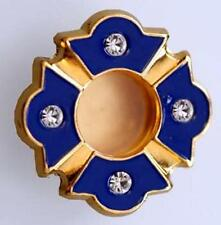 Personal Reliquary Relic Case Gold P Blue Enamel & Stones Sacred Host Container