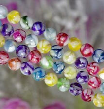 10mm Mixed Color Mother Of Pearl MOP Shell Round Beads 15'' D30