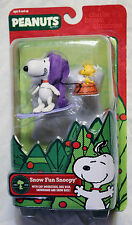 Peanuts A Charlie Brown Christmas SNOW FUN SNOOPY WOODSTOCK Figure Forever Fun