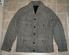 "$295 (M) POLO-RALPH LAUREN Gray Shawl-Neck ""SPORTSMAN"" Cardigan Jacket (ELK)"