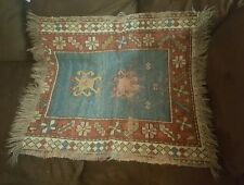 """Throw Rug Tapestry Southwest Western Hand Woven Wool 20x40"""""""