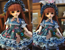 1/6 bjd tiny yosd doll outfits denim dress set dollfie fairyland #SD-111S