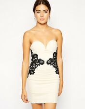 BNWT Rare Sweetheart Bandeau Dress with Contrast Lace 10