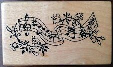 PSX Music Notes Rubber Stamp E-530