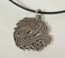 Celtic Mermaid Charm Pendant Necklace .925 Sterling Silver Mens Jewelry USA Sea