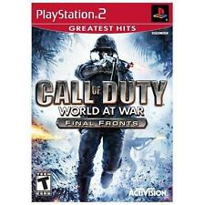 Call of Duty: World at War -- Final Fronts GH PLAYSTATION 2 PS2 GAME COMPLETE
