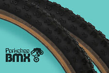 "Kenda Comp 3 III old school BMX skinwall gumwall tires 24"" X 2.125"" BLACK (PAIR)"