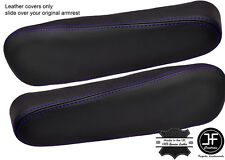 PURPLE STITCH 2X SEAT ARMREST LEATHER COVERS FITS HONDA CRV CR-V 2007-2011