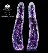 "44"" Amethyst Geode True Twin Set of Cluster Cathedrals - 230 Pounds"