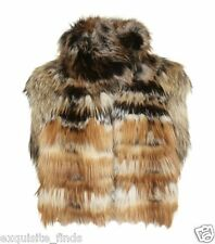 $9,599 Lanvin Fox Fur Sleeveless Coat Jacket