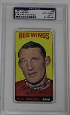 BILL GADSBY SIGNED 1964 TOPPS HOCKEY CARD #96 PSA/DNA AUTHENTICATED RED WINGS