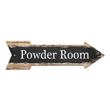 AP-0019 POWDER ROOM Arrow Street Tin Chic Sign Name Sign man cave Decor Gift