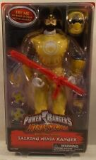 "Power Rangers Ninja Storm 12"" Talking Yellow Wind Ranger Removable Helmet (MOC)"