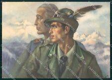 Militari Alpini Battaglione Duca degli Abruzzi Boeri Tafuri FG cartolina XF0876