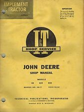 JOHN DEERE 80 820 830  TRACTOR I+T SHOP MANUAL JD-17