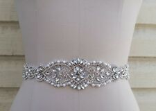 Wedding Sash Belt, Bridal Sash Belt, Crystal Pearl Bridal Sash Belt