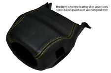 YELLOW STITCH STEERING WHEEL SHROUD SKIN COVER FITS LAND ROVER DISCOVERY 1 89-94