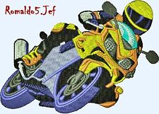 Australian Site ~ MOTORCYCLE 5 and 6 -Embroidery Design on a CD or Janome CFCard