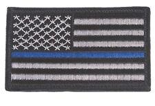 USA Thin Blue Line Police Patch Blue Lives Matter USA America Flag