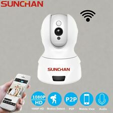 SUNCHAN 1080P Wireless Pan Tilt Network Security CCTV IP Camera Dome Wifi Webcam