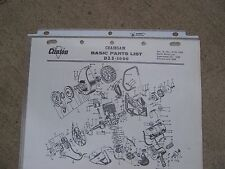 1964 Clinton D25-1000 Chainsaw Illustrated Basic Parts List MORE IN OUR STORE  G