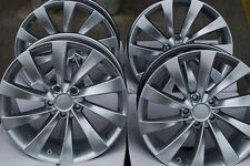"18"" ALLOY WHEELS FITS VW CADDY CC EOS GOLF PASSAT SCIROCCO TOURAN T4 TURBINE SIL"