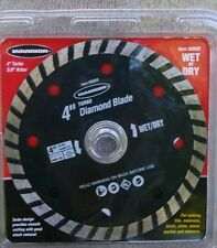 "Warrior 4"" Wet / Dry Turbo Diamond Blade for Masonry #68889 ~ NEW"