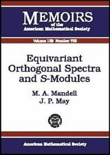 Equivariant Orthogonal Spectra and S-Modules (Memoirs of the American -ExLibrary