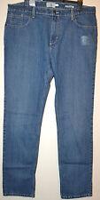 Mens Jeans ajustados M&S Colección con stretch confort Talla W38 L33 Med BENCH Azul BNWT