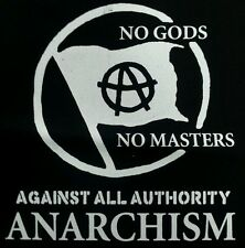 ANARCHISM NO GODS PUNK ROCK BLACK CANVAS BACK PATCH