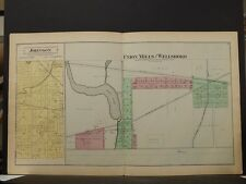 Indiana, La Porte County Map, 1892, Johnson Township Union Mills Wellsboro O4#89