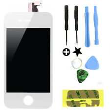 New White Front Touch Digitizer LCD Display Screen Replacement for iPhone 4 GSM