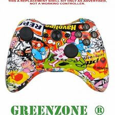 Custom Xbox 360 hydro dipped sticker bomb controller shell mod kit + pièces