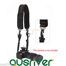 Quick Rapid Single Shoulder Sling Padded Strap Belt with Hook for DSLR Camera