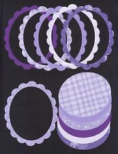 Scallop Oval Sizzix Die Cut Photo Frames 6 Assorted Purple Picture Frames / AF27