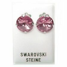 Neu OHRCLIPS 14mm SWAROVSKI STEINE light rose/hellrosa/rosa OHRRINGE OHRCLIPSE