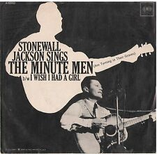 STONEWALL JACKSON--PICTURE SLEEVE + 45---(THE MINUTE MEN)--PS--PIC--SLV