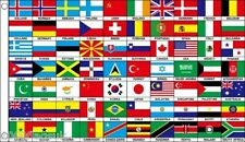 70 Nation of the World 5'x3' Flag