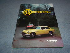 THE MG INTERNATIONAL YEARBOOK 1977 by KNUDSON ILLUSTRATED HISTORY INFORMATION