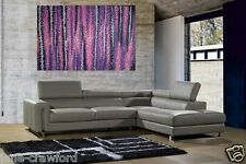 "47"" Art Modern Aboriginal Painting Large Canvas purple abstract by Jane Crawford"