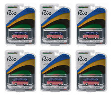 GREENLIGHT 1:64 SCALE RIO GAME USA VW VOLKSWAGEN TYPE 2 T2 BUS 6PCS 51037