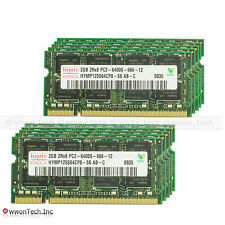 Lot 10pcs Hynix 2GB PC2-6400 DDR2-800Mhz 200pin Sodimm Laptop Memory NON-ECC